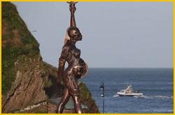 verity damian hirsts sculpture, ilfracombe, devon